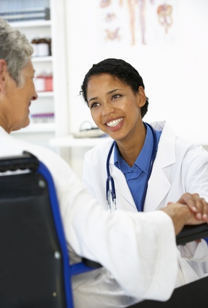 doctor patient: Doctor with female patient