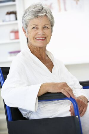 recovering: Senior woman patient
