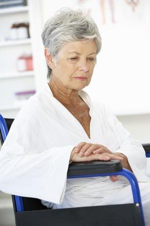 menopause: Senior woman patient