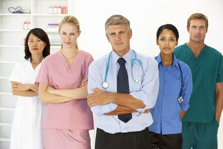 serious doctor: Portrait of medical professionals