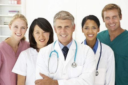 physicians office: Portrait of medical professionals
