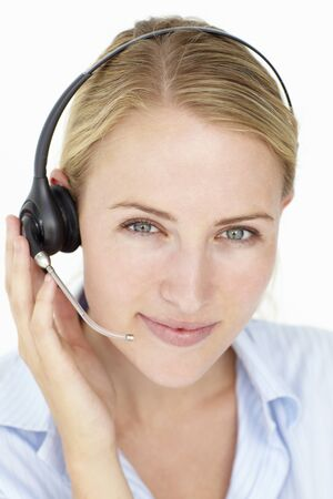 Call center operator photo