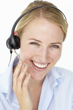 Call center operator Stock Photo - 11184092