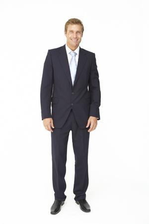 Ritratto di uomo d'affari in vestito Archivio Fotografico