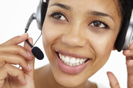 Call center operator photo