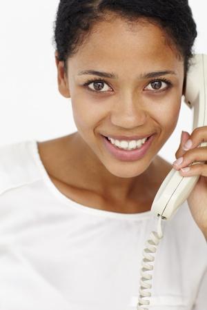 fixed line: Mujer hablando por tel�fono