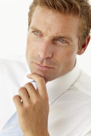sideview: Portrait of businessman