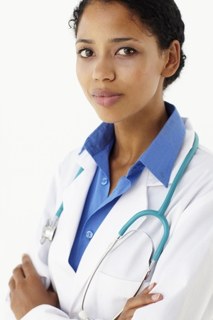 sideview: Portrait of medical professional