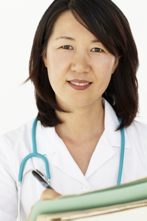 smiling doctor woman: Portrait of medical professional
