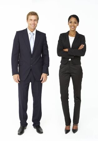 smartly: Smartly dressed businessman and woman