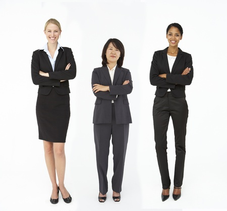 mixed race person: Group of mixed age and race businesswomen Stock Photo