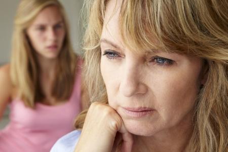 Nieszczęśliwa matka z nastolatka