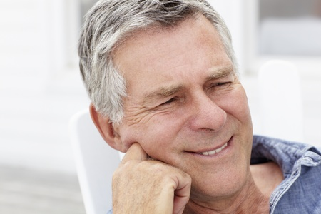 greying: Senior man head and shoulders