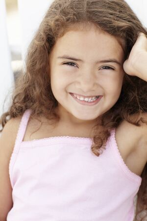 Portrait little girl outdoors photo