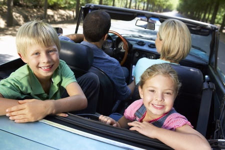 cabriolet: family in sports car