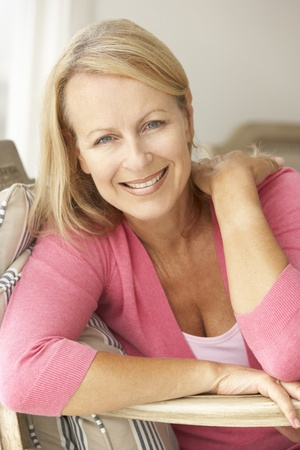 Senior woman at home photo