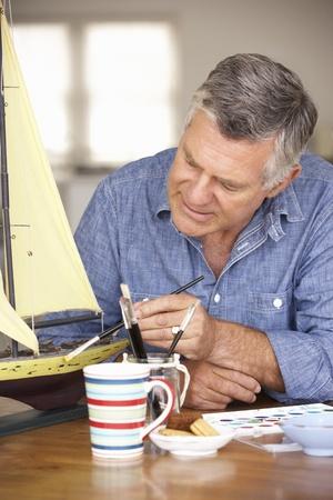 Senior man model making Stock Photo - 11211390