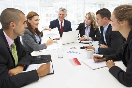 Mixed group in business meeting Stock Photo - 11210933