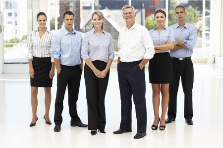 business casual: Mixed group of business people Stock Photo