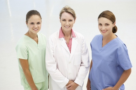 mixed age: Group of professional medical women