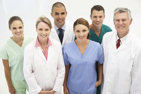 Mixed group of medical professionals photo