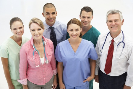 Mixed group of medical professionals Stock Photo - 11217373