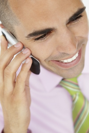 Young businessman using cellphone Stock Photo - 11212842