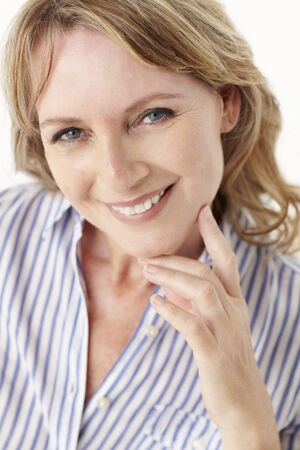 Mid age woman head and shoulders Stock Photo - 11217444
