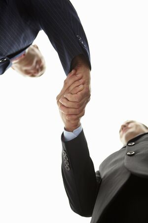 Detail businessmen shaking hands photo