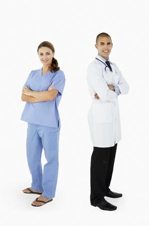 Portrait du personnel médical dans studio