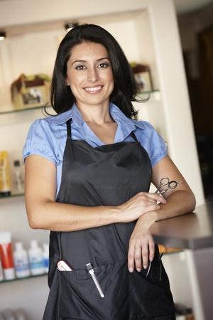 fodrászat: Nő, dolgozó, fodrászat