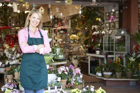 florists: Woman working in florist
