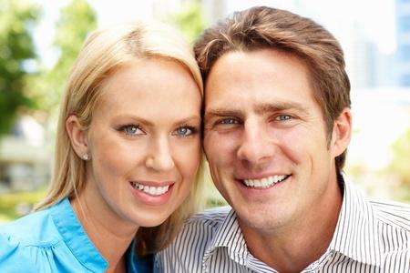 Portrait couple outdoors