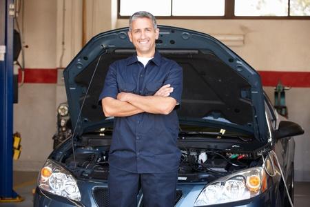 auto mechanic: Mechanic at work Stock Photo
