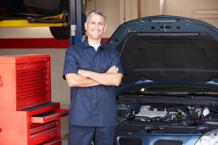 proprietor: Mechanic at work Stock Photo