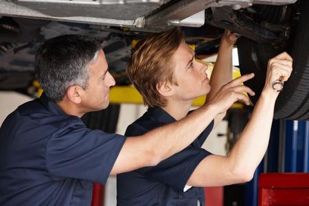 tire fitting: Mechanics at work