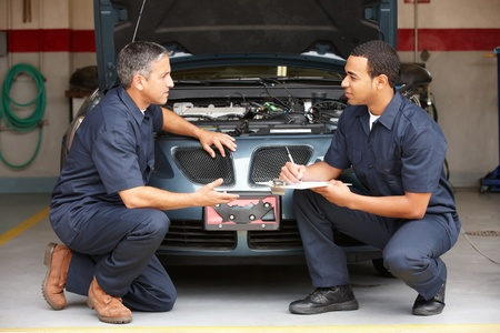auto shop: Mechanics at work