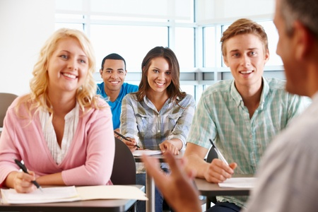 Tutor with class of students Stock Photo - 11217609