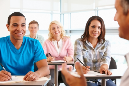 Tutor with class of students Stock Photo - 11217567