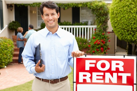 Real estate agent at work Stock Photo - 11216374
