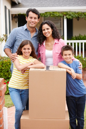Family moving into new house Stock Photo - 11218019
