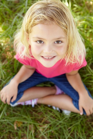 Portrait of happy girl Stock Photo - 11239079