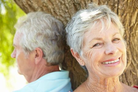 haired: Portrait of senior couple