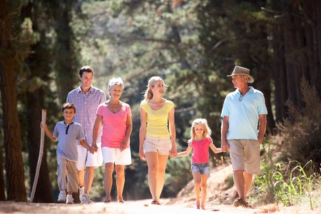 3 Generation family on country walk photo