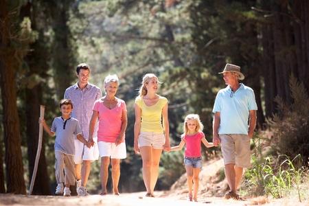 grandad: 3 Generation family on country walk