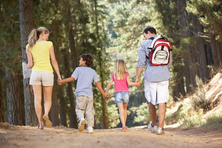 family walking: Family on country walk