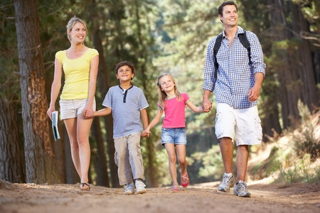 fits in: Family on country walk