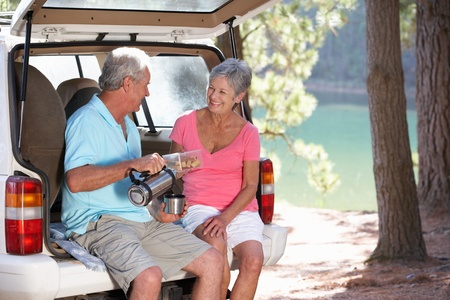 Senior couple on country picnic Stock Photo - 11238812