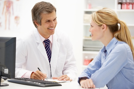 medico con paciente: M�dico con paciente