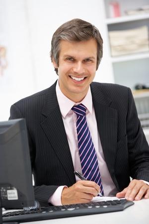 computerised: Doctor at desk